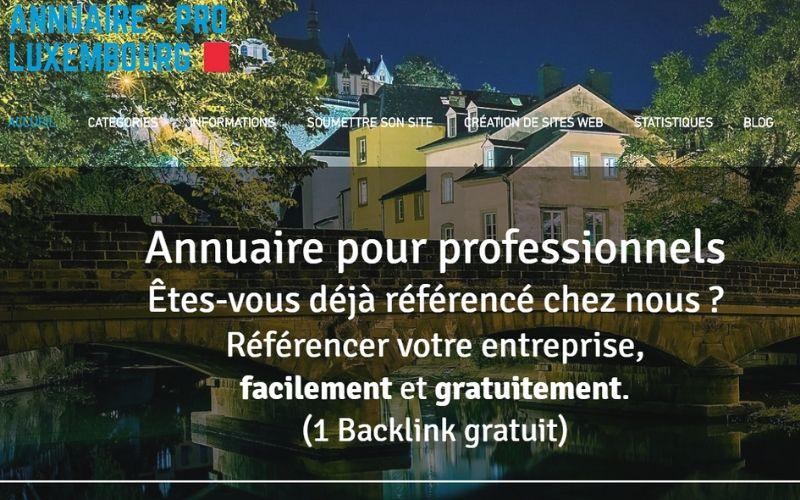 recherche annuaire  pour intégrer des liens entrants - letz communication - Agence web - Luxembourg